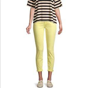 NWT Current/Elliott Light Yellow Skinny Jean Sz 25